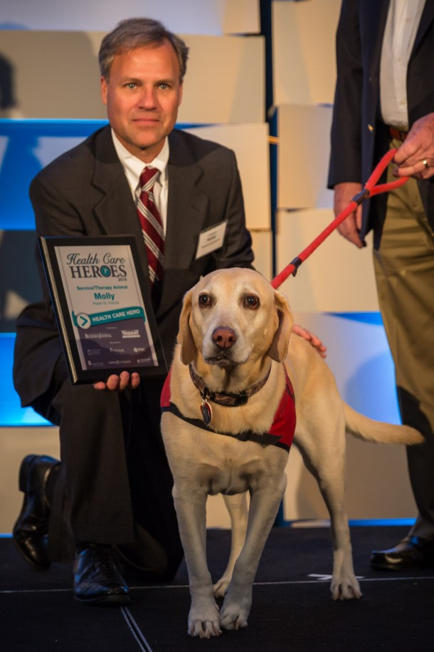 Molly (owner Jim Merryman), service/therapy animal, honoree